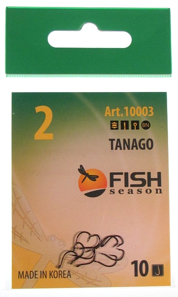 FishSeason Крючок TANAGO-RING с ушком, №2