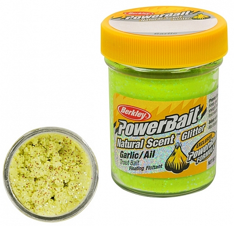 Паста Berkley PowerBait Garlic cartreuse/Чеснок(Шартрес) 50 гр.
