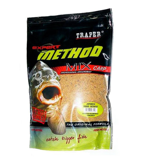 "Прикормка TRAPER METHOD MIX Japonese squid-octopus (""Метод"" Японский кальмар-осминог) 1 кг."