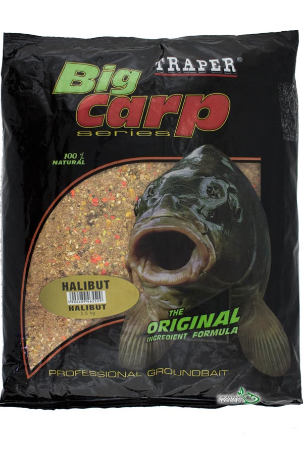 Прикормка TRAPER Big Carp Halibut (Палтус) 2,5 кг.