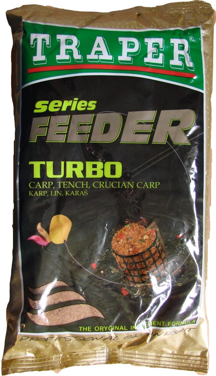 Прикормка TRAPER Feeder Series Turbo (Фидер серия - Карп, Линь, Карась) 2,5 кг.